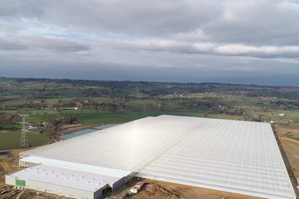 France: realization of complete heating installation by VB for a 17 hectare greenhouse complex