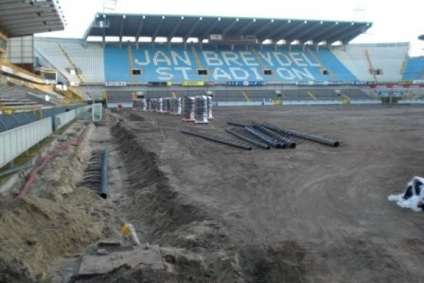 Pitch Heating for Club Brugge, KV Kortrijk and AFC Ajax